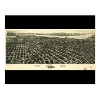 Carte aérienne de vue de Tulsa l'Oklahoma (1918)