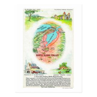 Carte aérienne du comté de Santa Clara avec des