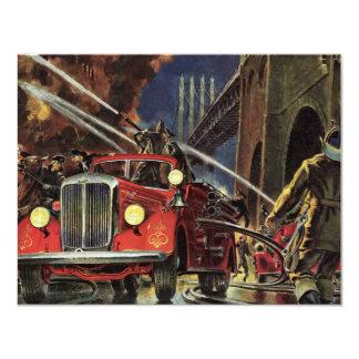Carte Affaires vintages, sapeurs-pompiers de pompiers de