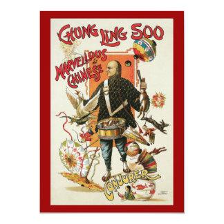 Carte Affiche magique vintage, magicien Chung Ling Soo