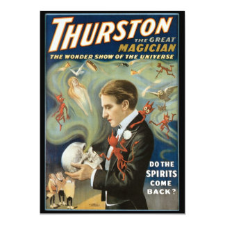Carte Affiche magique vintage, Thurston, le grand