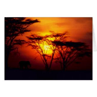 Carte africaine de coucher du soleil