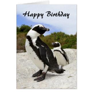 Carte africaine de pingouins de joyeux