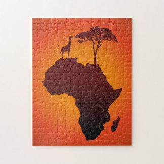 Carte africaine de safari - puzzle