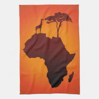 Carte africaine de safari - serviette de cuisine