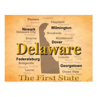 Carte âgée de fierté d'état du Delaware