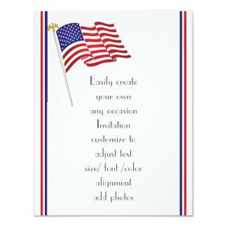 Carte Aigle et drapeau américains patriotiques