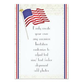 Carte Aigle et drapeau américains patriotiques 2