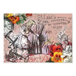 Carte Alice dans le chapelier et le lapin du pays des
