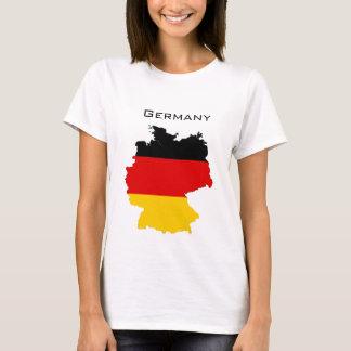Carte allemande de drapeau t-shirt