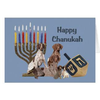 Carte allemande Menorah 2 de Chanukah d'indicateur