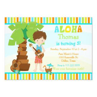 Carte Aloha fête d'anniversaire mignonne de garçon de