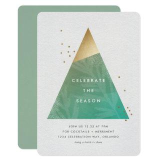 Carte Aluminium géométrique de faux d'invitation de fête