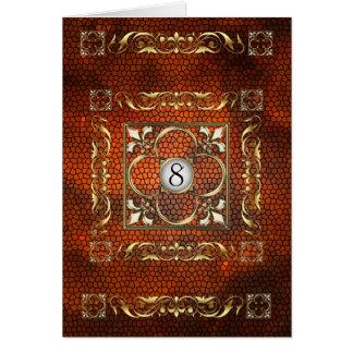 Carte ambre de Tableau en verre souillé de Fleur d