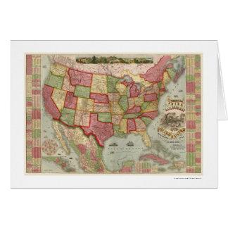 Carte américaine 1872 de chemin de fer des