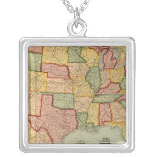 Carte américaine de chemin de fer des syndicats de pendentif carré