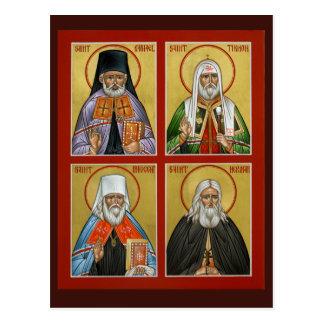 Carte américaine de prière de saints carte postale