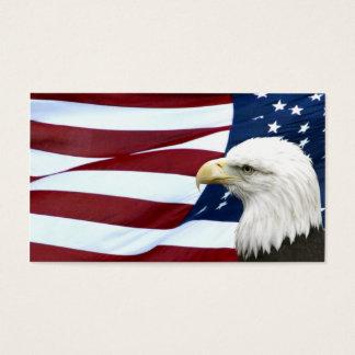 Carte américaine patriotique d'affaires ou de