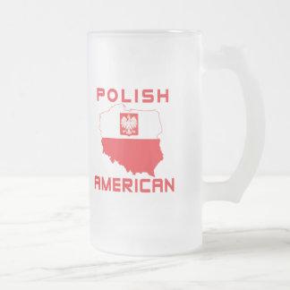 Carte américaine polonaise frosted glass beer mug