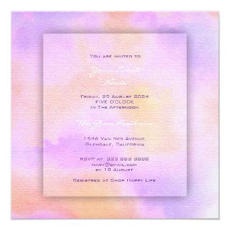 Carte Améthyste de corail pourpre de rose d'aquarelle