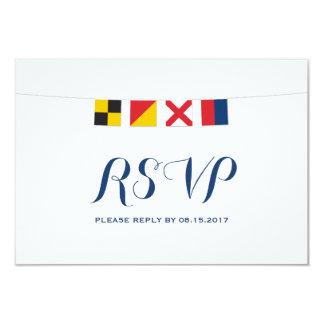 Carte AMOUR dans les drapeaux nautiques colorés RSVP
