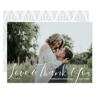 Carte Amour et Merci de photo de mariage assez élégants