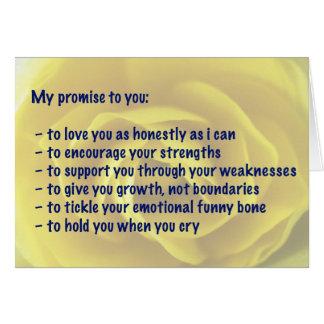 Carte - amour - ma promesse
