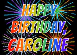Cadeaux Joyeux Anniversaire Caroline Zazzle Fr