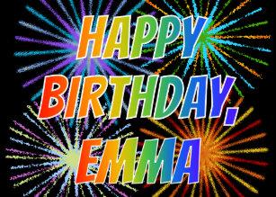 Invitations Faire Part Cartes Joyeux Anniversaire Emma Zazzle Fr