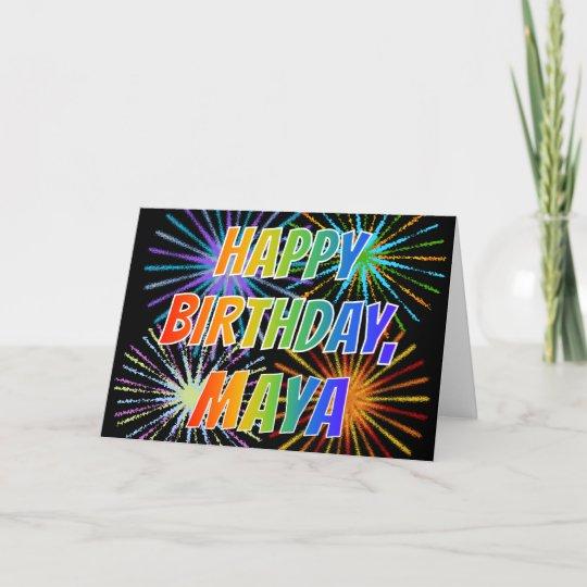 Carte Amusement Joyeux Anniversaire De Maya De Zazzle Fr