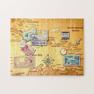 Carte ancienne de la Caraïbes Puzzle