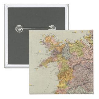 Carte Angleterre, Pays de Galles 3 de ligne de par Badges