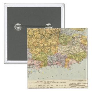 Carte Angleterre, Pays de Galles 6 de ligne de par Badges
