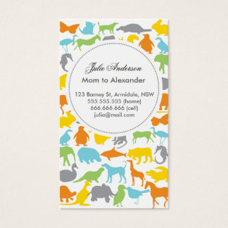 Carte animale faite sur commande de maman