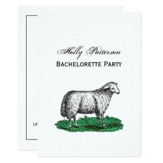 Carte Animaux de ferme vintages de brebis de moutons
