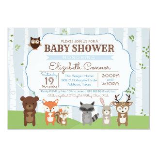 Carte Animaux ressort de région boisée ou baby shower