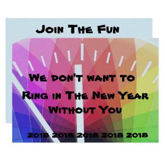 Carte Anneau dans l'invitation de nouvelle année