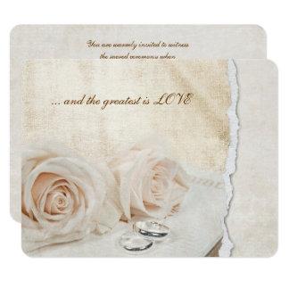 Carte Anneaux de mariage sur le renouvellement de voeu