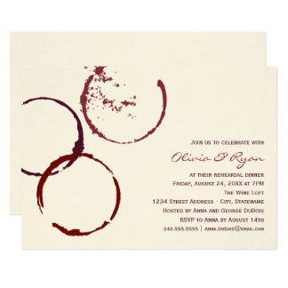 Carte Anneaux de tache de vin du dîner   de répétition
