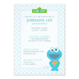 Carte Anniversaire de bébé de monstre de biscuit
