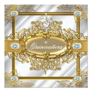 Carte Anniversaire de damassé argentée d'or de