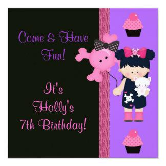 Carte Anniversaire de petit gâteau de Goth Girlie