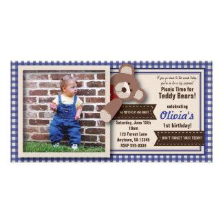 Carte Anniversaire de pique-nique d'ours de nounours -