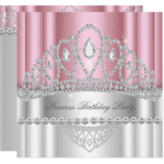 Carte Anniversaire de princesse Light-pink White Diamond