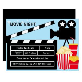 Carte Anniversaire de soirée cinéma