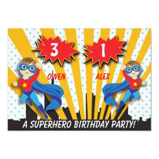 Carte Anniversaire de super héros de garçons