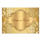 Carte Anniversaire floral RSVP d'or de remous de damassé