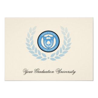 Carte annonces bleues d'obtention du diplôme
