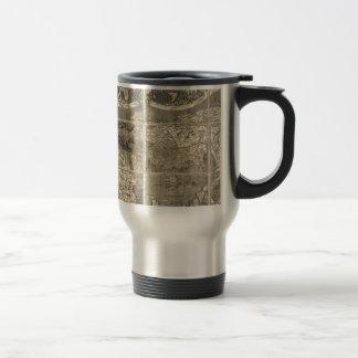Carte antique 1507 du monde mug de voyage en acier inoxydable
