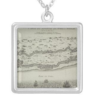 Carte antique de golfe Persique Collier
